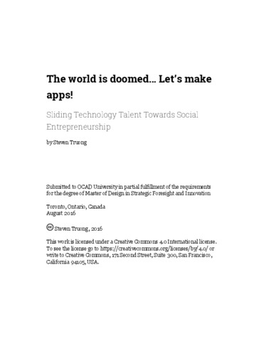 The world is doomed… Let's make apps! Sliding Technology